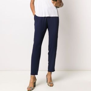 NWT Eileen Fisher Silk Cropped Trousers, xxs,xs
